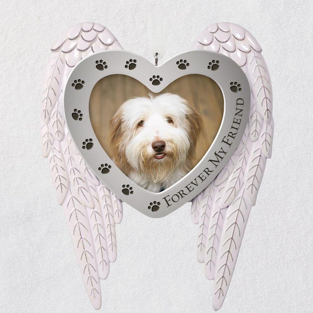 Forever My Friend Pet Memorial Metal Photo Ornament - Keepsake ...