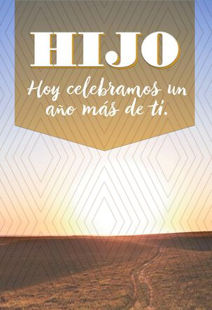 Celebrating Another Year Spanish-Language Birthday Card for Son