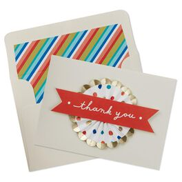 Colorful Medallion with Dots Thank You Notes, Pack of 8, , large