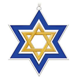Season of Miracles Porcelain Star of David Ornament, , large