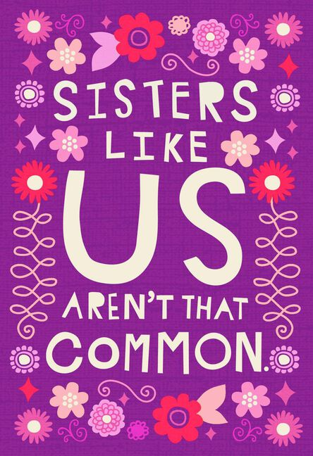 Unique Combination Funny Birthday Card For Sister Greeting Cards
