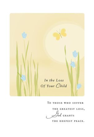 Beautiful Butterfly Religious Sympathy Card for Loss of Child