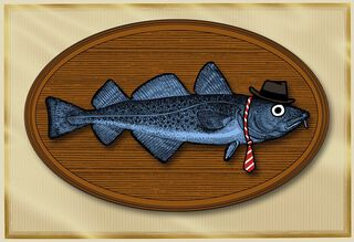 Fish Plaque Funny Father's Day Card,