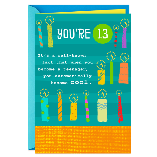 Still Cool Candles 13th Birthday Card