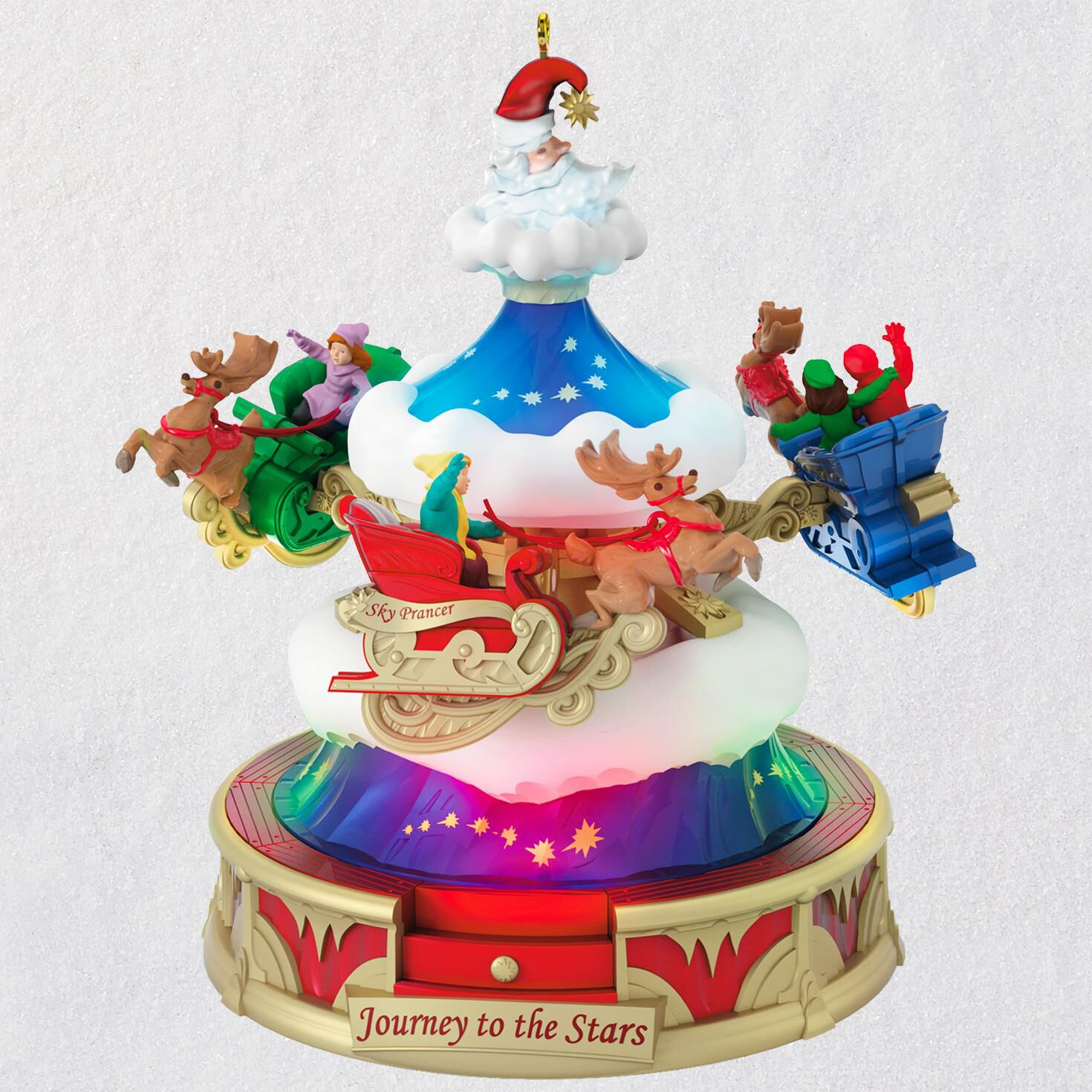 christmas carnival journey to the stars musical ornament with light and motion keepsake ornaments hallmark - Hallmark Christmas Decorations