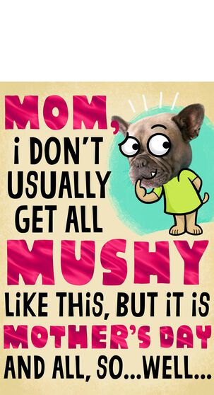 Funny Dog High Five Mother's Day Card