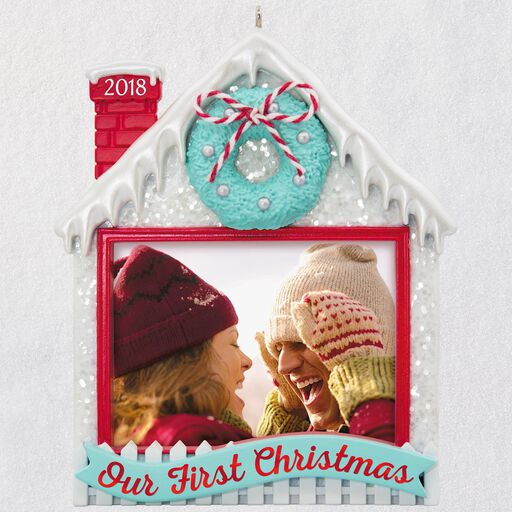 aebe5fec6c6 Our First Christmas 2018 Photo Ornament