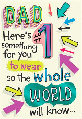A 1 Daughter Funny Birthday Card With Button Pin For Dad