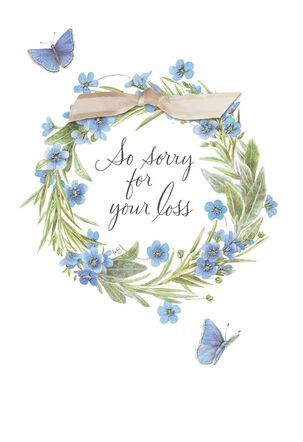 Marjolein Bastin Wreath With Butterflies Sympathy Card