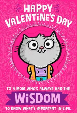 What a Smart Mom Valentine's Day Card