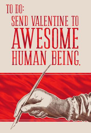 You're Awesome Valentine's Day Card