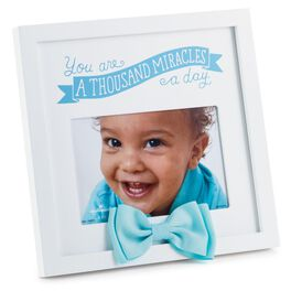 Baby Boy Thousand Miracles a Day Picture Frame, 4x6, , large