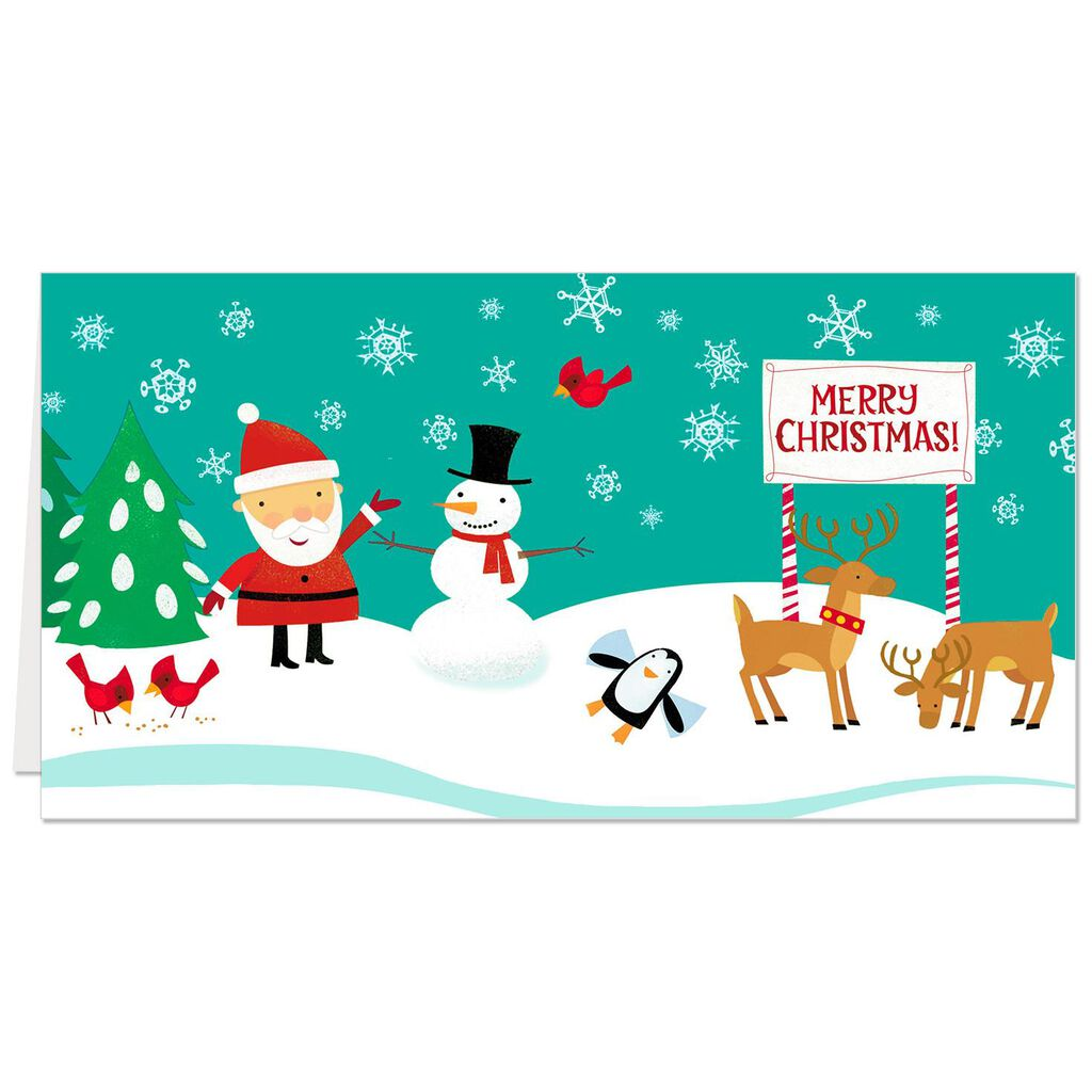 Santa and Friends Money Holder Christmas Cards, Pack of 6 - Boxed ...