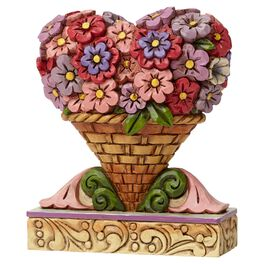 Jim Shore® Mini Flower Heart Bouquet Figurine, , large