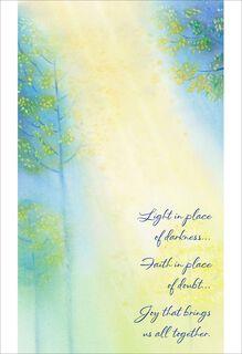 Light and Faith Easter Card for Anyone,