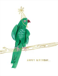 Party Parrot Birthday Card,