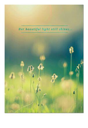 Sunlight on a Meadow Sympathy Card
