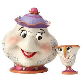 Jim Shore® Mrs. Potts and Chip Figurine, 25th Anniversary, , large