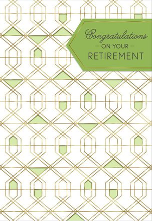 Geometric Designs Retirement Card