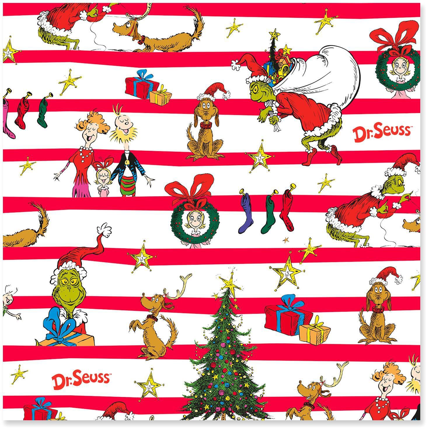 dr seuss how the grinch stole christmas jumbo christmas wrapping paper roll 80 sq ft wrapping paper hallmark