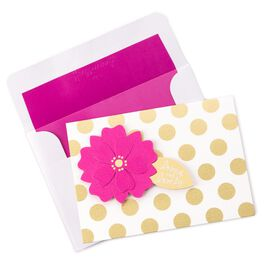Flower and Dot Note Cards, Pack of 8, , large