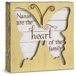 Nana Butterfly Plaque, , large