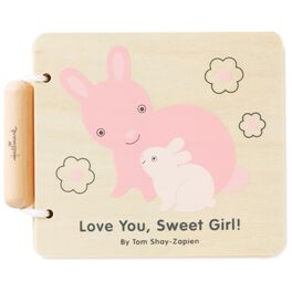 Love You, Sweet Girl! Wood Bunny Book, , large
