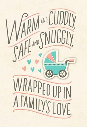 Warm and Cuddly New Grandchild Baby Card