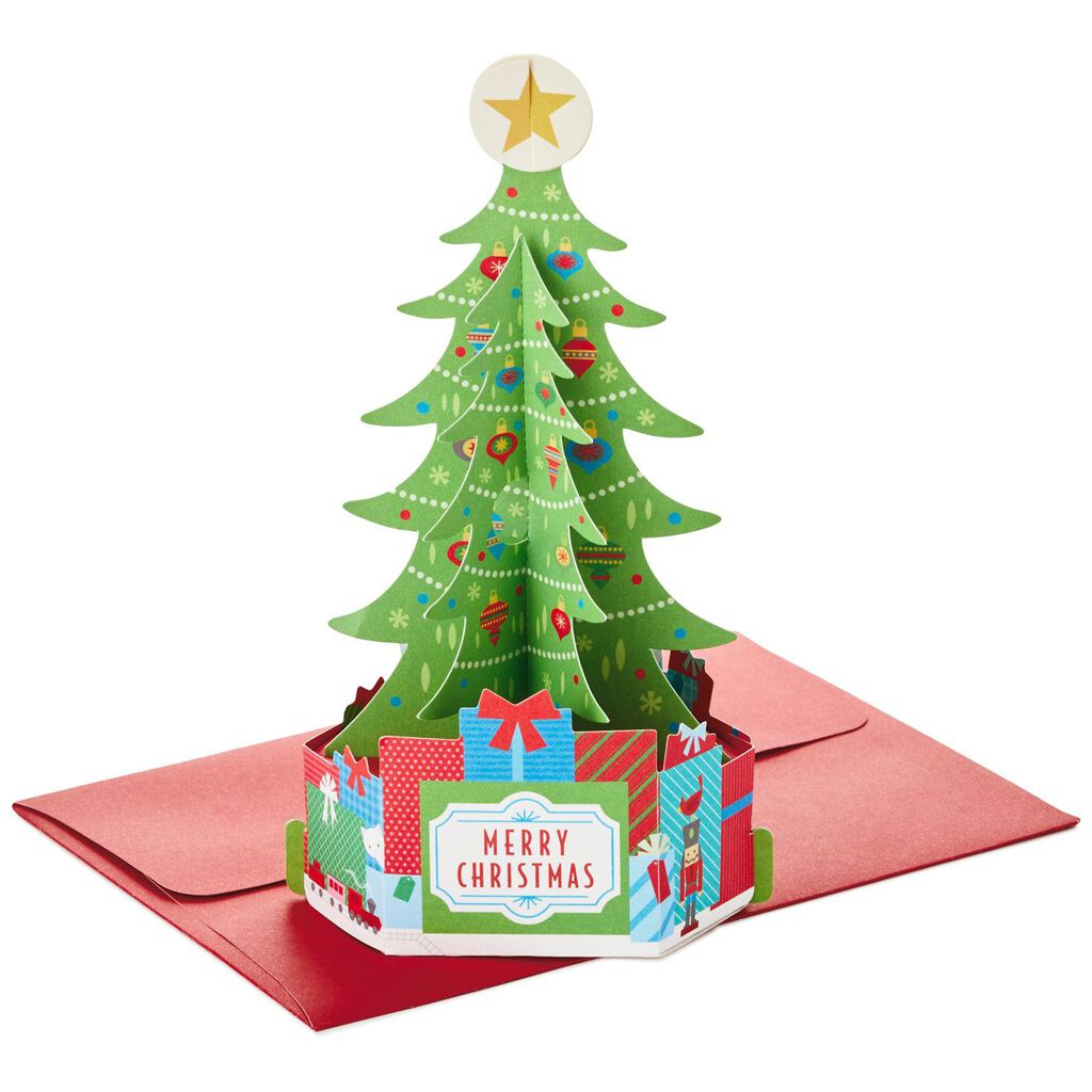 Holiday Tree With Presents Pop Up Christmas Cards, Box of 8 - Boxed ...