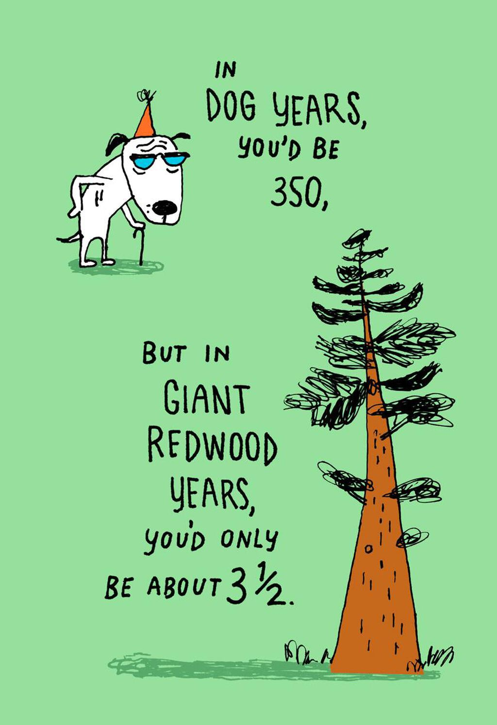 50 Is 350 In Dog Years Funny Birthday Card