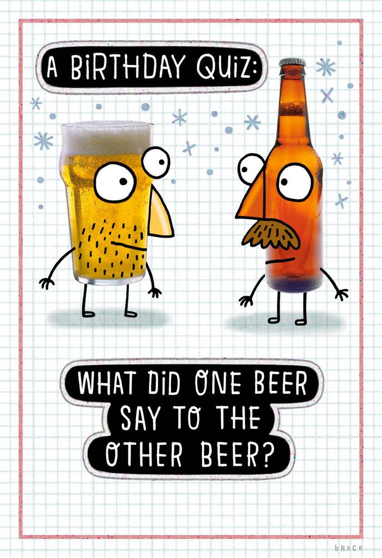 Beer Birthday Quiz Funny Card