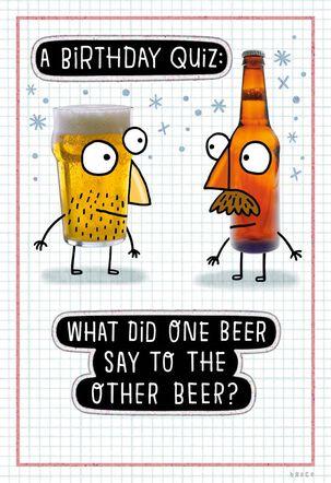 Beer Birthday Quiz Funny Birthday Card
