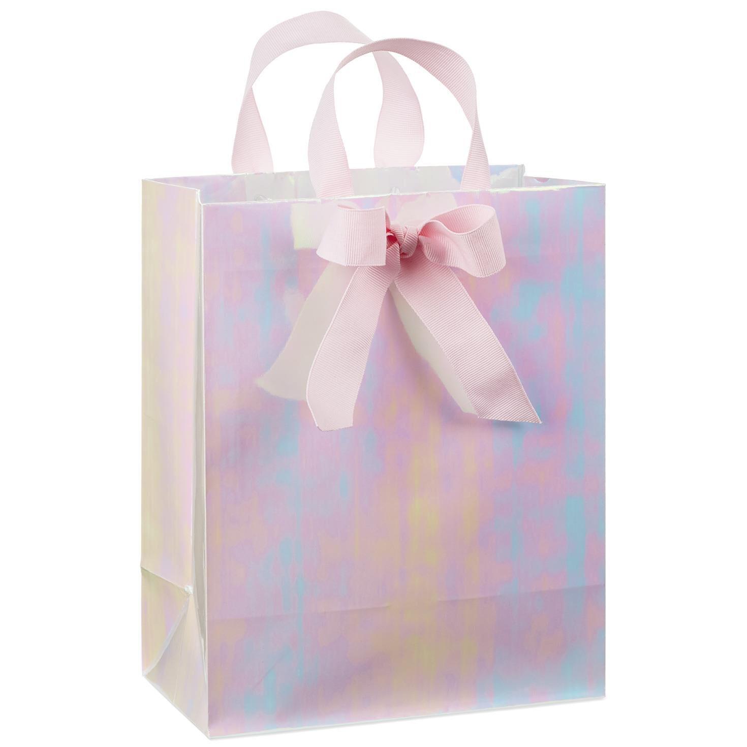 Pink iridescent medium gift bag 95 gift bags hallmark negle Gallery