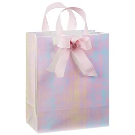 "Pink Iridescent Medium Gift Bag, 9.5"", , large"