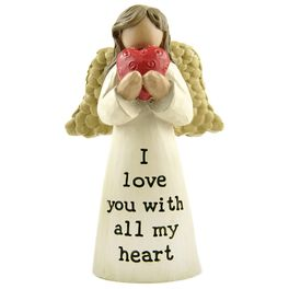 I Love You With All My Heart Angel Figurine, , large