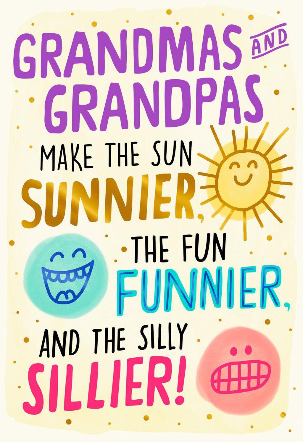 Make Grandparents Day Card Half Pencil