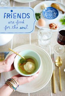 Matzo Ball Soup Passover Card for Friend,