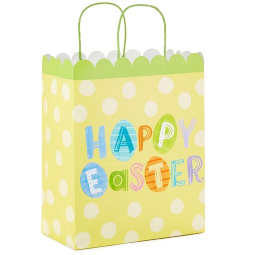 69494333250f Happy Easter on Yellow Large Gift Bag