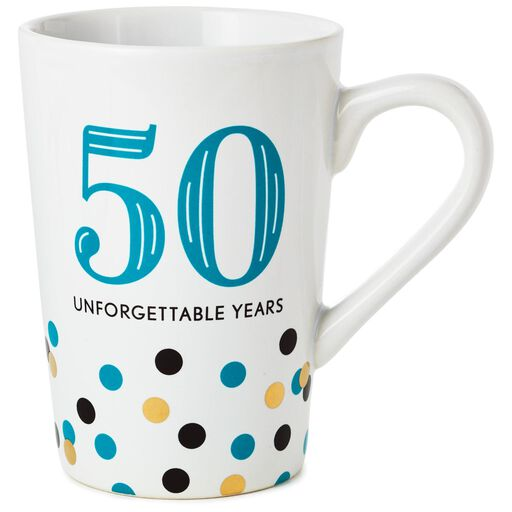 50 Unforgettable Years Ceramic Mug 15 Oz