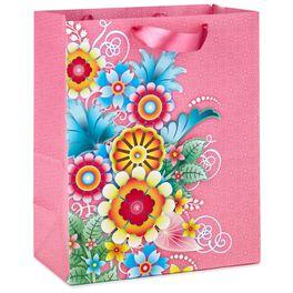 "Catalina Estrada Pink Floral Large Gift Bag, 13"", , large"