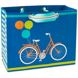 "Bike With Balloons Medium Gift Bag, 7.75"", , large"