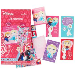 Frozen Kids' Valentines With Stickers, 32 Pack, , large