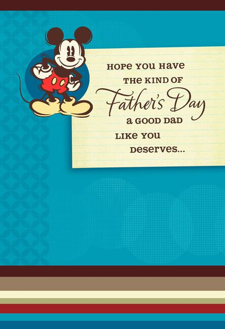 Mickey mouse you deserve the best fathers day card greeting cards mickey mouse you deserve the best fathers day card m4hsunfo