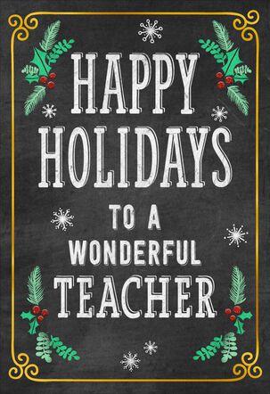 Well-Deserved Break Christmas Card for Teacher
