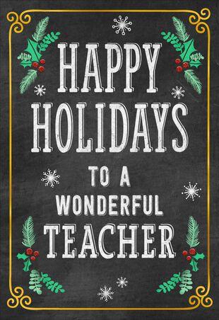 Christmas Cards For Teachers.Well Deserved Break Christmas Card For Teacher