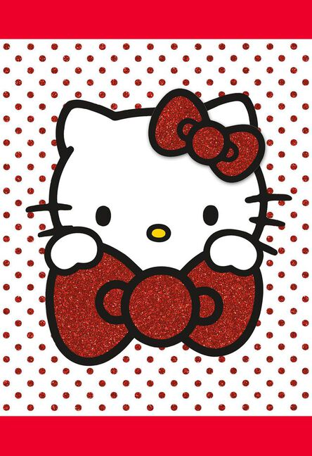 Hello kitty polka dot blank thinking of you card greeting cards hello kitty polka dot blank thinking of you card m4hsunfo