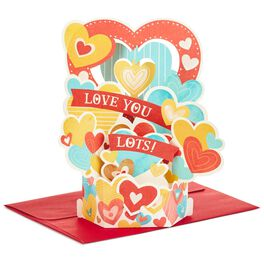 Bouquet of Hearts Pop Up Love Card, , large