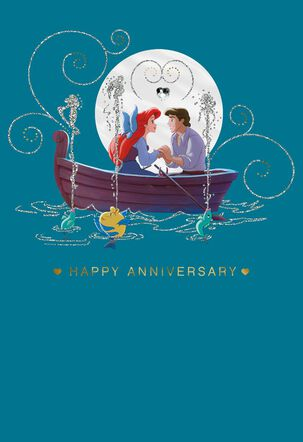 The Little Mermaid Ariel and Prince Eric Anniversary Card