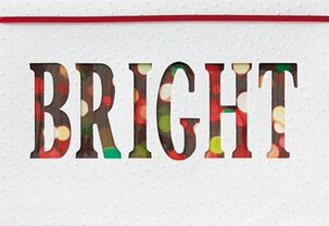 Brightly Merry Christmas Card