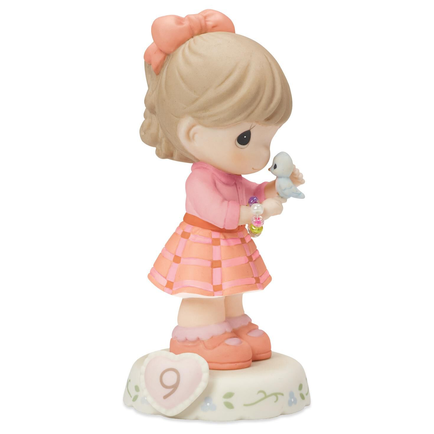 Precious Moments Growing in Grace—Age 9 Brunette Girl Porcelain